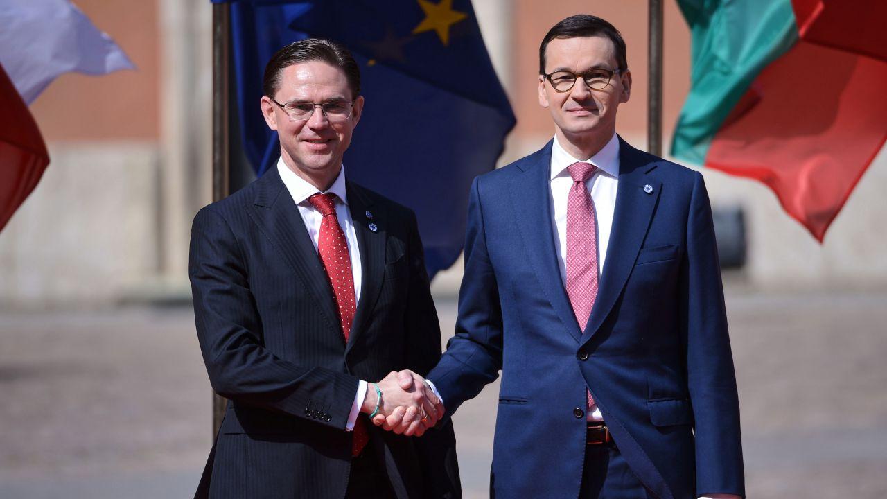 Wiceszef KE Jyrki Katainen i premier Mateusz Morawiecki (fot. PAP/Marcin Obara)