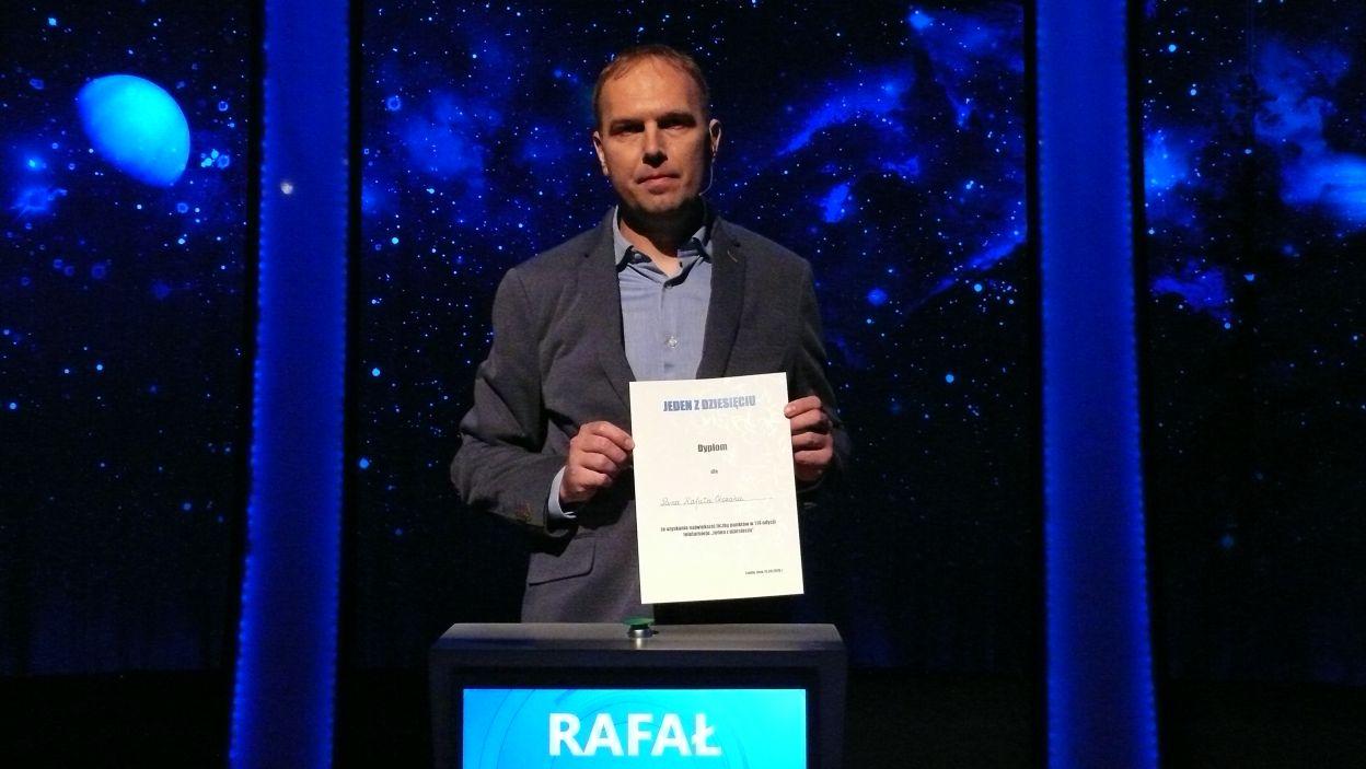 Rafał Olczak - zwycięzca nagrody za największą ilość zdobytych punktów w Wielkim Finale 114 edycji