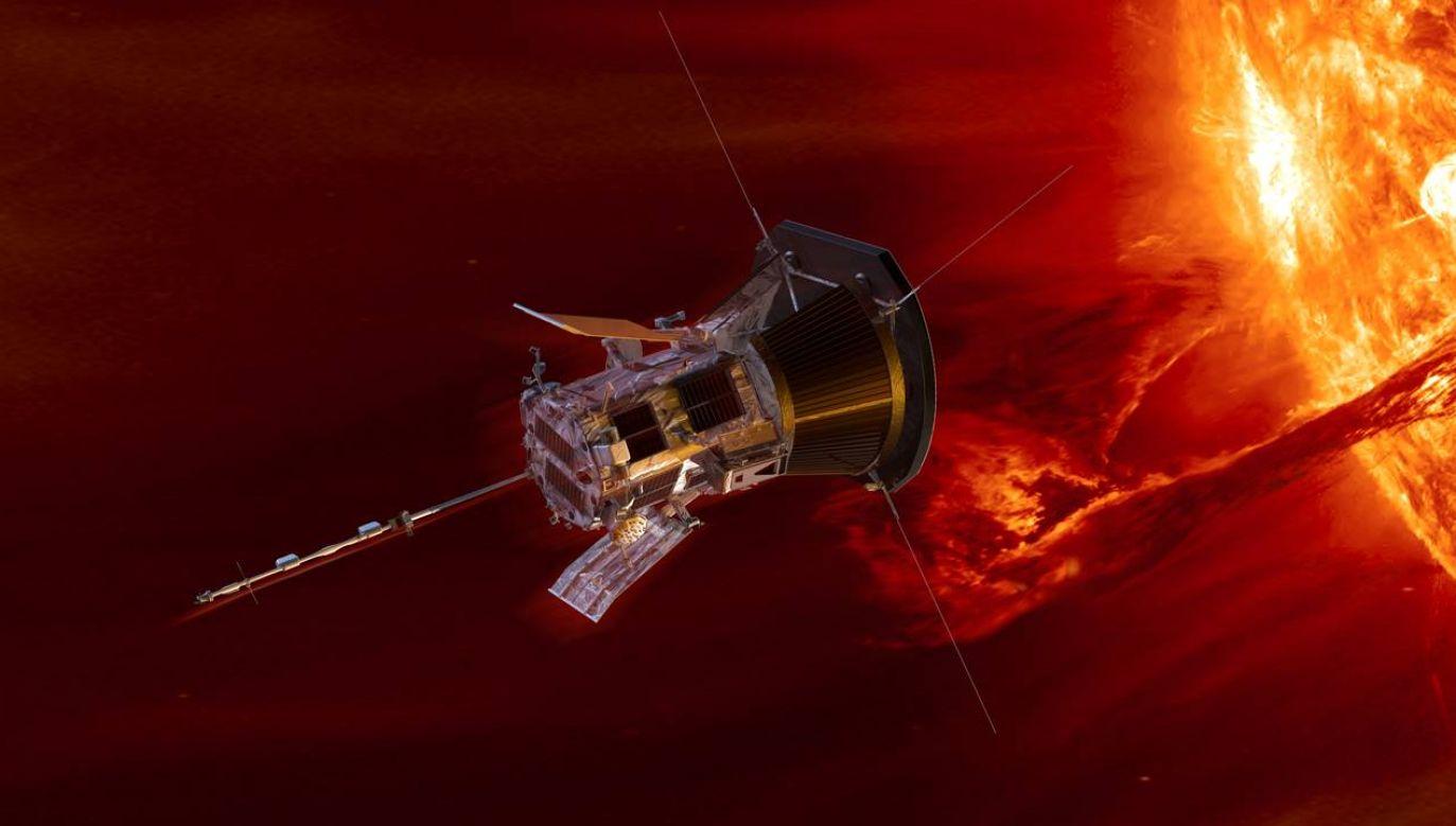 Sonda Parker Solar Probe opuściła Ziemię w 2018 roku (graf. NASA)