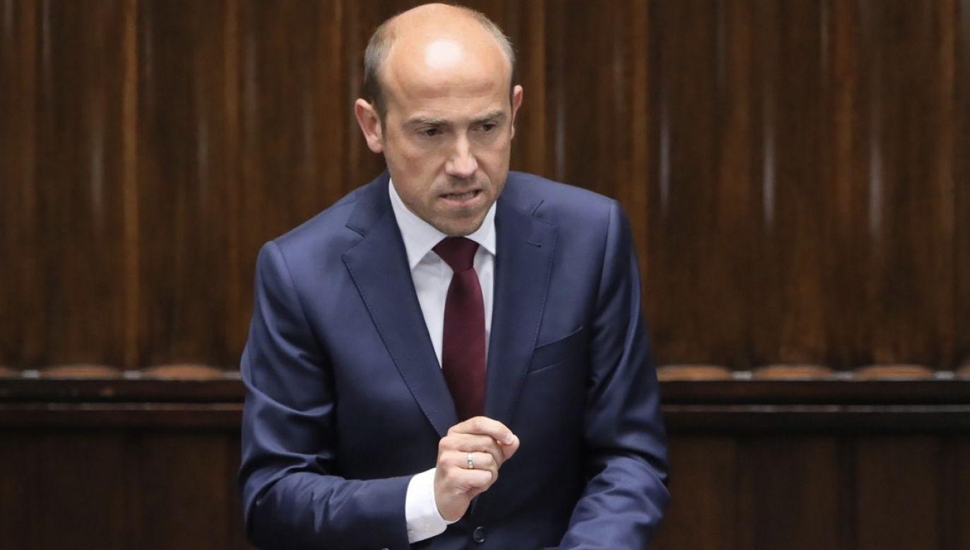 Uchwałę Sądu Najwyższego skomentował szef Platformy Obywatelskiej Borys Budka (fot. PAP/Paweł Supernak)