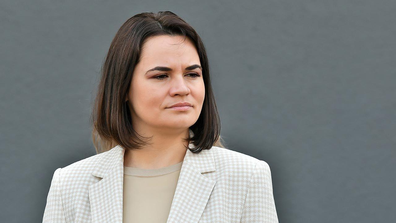 Liderka białoruskiej opozycji Swiatłana Cichanouska (fot. PAP/Maciej Kulczyński)