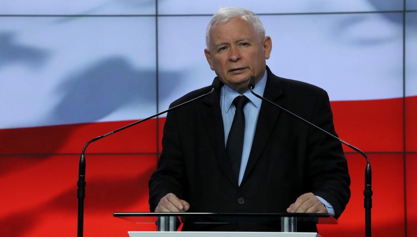 Prezes PiS Jarosław Kaczyński (fot. PAP/Tomasz Gzell)