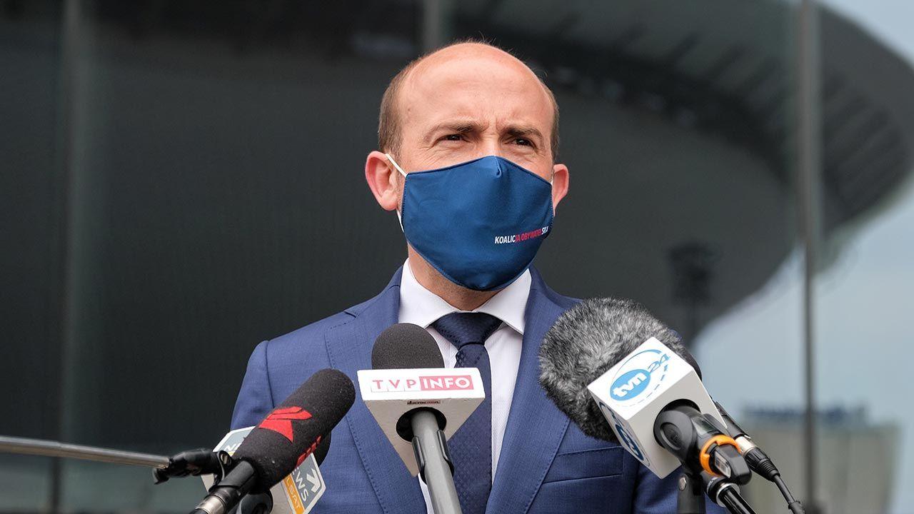 Lider PO Borys Budka (fot. PAP/Hanna Bardo)